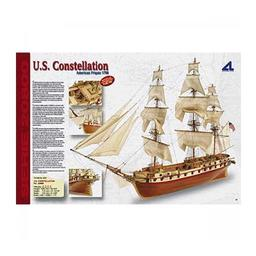 Click here to learn more about the Artesania Latina, S.A. 1/85 U.S. Constellation Wooden Model Ship Kit.