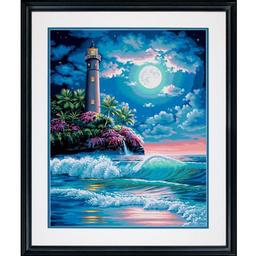 Click here to learn more about the Dimensions a Div of eksuccess Lighthouse in Moonlight PBN 16x20.