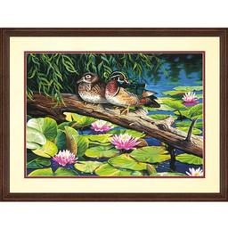 Click here to learn more about the Dimensions a Div of eksuccess The Lily Pond PBN 20x14.