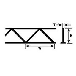 "Click here to learn more about the Plastruct 9/32"" Warren Open Web Truss (2)."