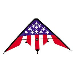 "Click here to learn more about the Gayla Industries Stars & Stripes Nylon Stunt SV, 56"" x 28""."