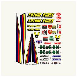 Click here to learn more about the Pinecar Dry Transfer Decals, Drag Racer.