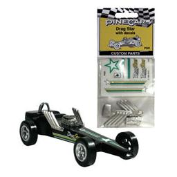 Click here to learn more about the Pinecar Custom Parts w/Decals, Drag Star.