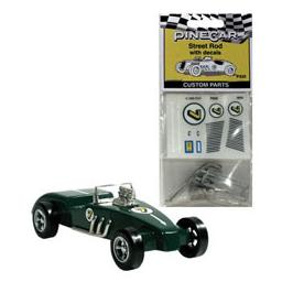 Click here to learn more about the Pinecar Custom Parts w/Decals, Street Rod.