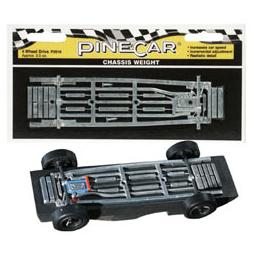 Click here to learn more about the Pinecar Chassis Weight, Four Wheel Drive 2.5 oz.