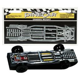 Click here to learn more about the Pinecar Chassis Weight, Rear Wheel Drive 2.5 oz.