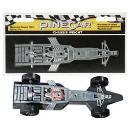 Click here to learn more about the Pinecar Chassis Weight, Maximum Torque 2.5 oz.
