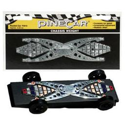 Click here to learn more about the Pinecar Chassis Weight, Rocket Car 2.25 oz.