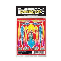 Click here to learn more about the Pinecar Dry Transfer Decals, Cool Blaze.
