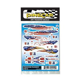 Click here to learn more about the Pinecar Dry Transfer Decals, Freedom Runner.