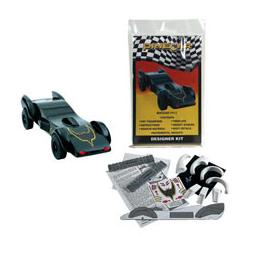 Click here to learn more about the Pinecar Designer Car Kit, Batcar.