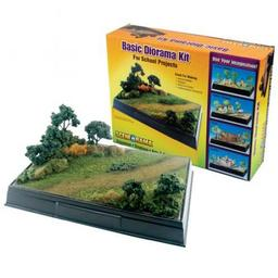Click here to learn more about the Woodland Scenics Scene-A-Rama Basic Diorama Kit.