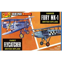 Click here to learn more about the Lindberg 1/48 Fairey Flycatcher/Hawker Fury (2 pack).