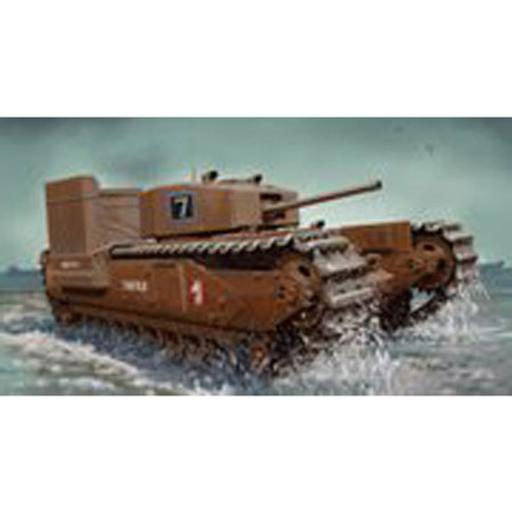 Dragon Models, USA 1/72 Churchill Mark.III w/Deep Wading Kit