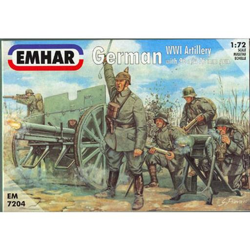 Pegasus Hobby 1/72 WWI German Artillery 77mm Cannon & Crew