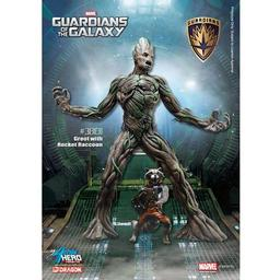 Click here to learn more about the Dragon Models, USA 1/9 Guardians of the Galaxy-Groot w/Rocket Raccoon.
