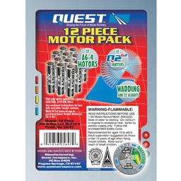 Click here to learn more about the Quest Aerospace A6-4 Motor Pack, Igniters & Wadding (12) HAZS.