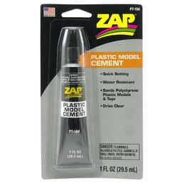 Click here to learn more about the ZAP Glue Zap Plastic Model Cement, 1oz, Carded.