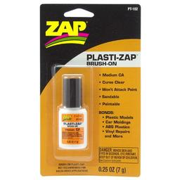 Click here to learn more about the ZAP Glue Plasti-Zap Brush On, .25oz. Carded.