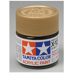 Click here to learn more about the Tamiya America, Inc Acrylic X12 Gloss,Gold Leaf.
