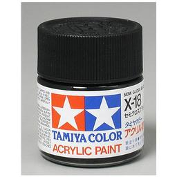 Click here to learn more about the Tamiya America, Inc Acrylic X18 Semi Gloss,Black.