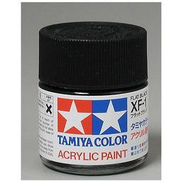 Click here to learn more about the Tamiya America, Inc Acrylic XF1 Flat Black.