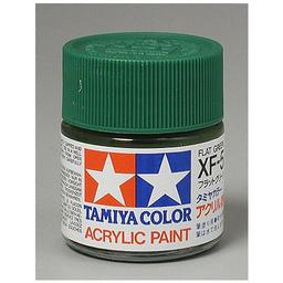 Click here to learn more about the Tamiya America, Inc Acrylic XF5 Flat, Green.