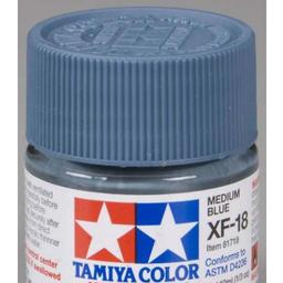 Click here to learn more about the Tamiya America, Inc Acrylic Mini XF18, Medium Blue.