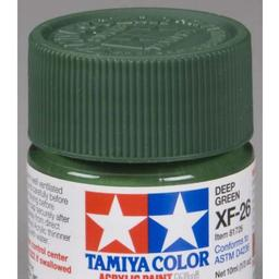 Click here to learn more about the Tamiya America, Inc Acrylic Mini XF26, Deep Green.