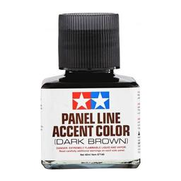 Click here to learn more about the Tamiya America, Inc Panel Line Accent Color, 40ml Dark Brown.
