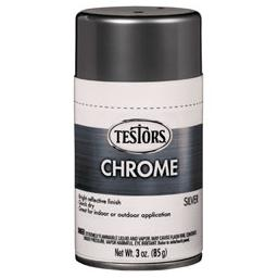 Click here to learn more about the Testor Corp. Testors Craft 3oz Chrome Spray - Silver.