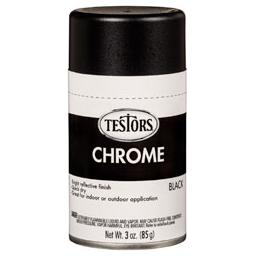 Click here to learn more about the Testor Corp. Testors Craft 3oz Chrome Spray - Black.