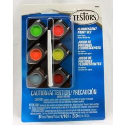 Click here to learn more about the Testor Corp. 1/10oz,  Acrylic Pots, 6pk, Fluorescent Colors.