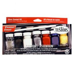Click here to learn more about the Testor Corp. Enamel Kit:Household,6 Colors.