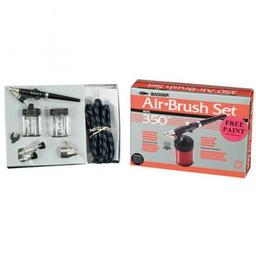 Click here to learn more about the Badger Air-Brush Co. 350 Airbrush Set with 3 Heads (F, M, H).