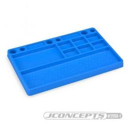 Click here to learn more about the JConcepts, Inc. Parts Tray, Rubber Material, Blue.