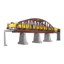Click here to learn more about the M.T.H. Electric Trains O Steel Arch Bridge, Rust.