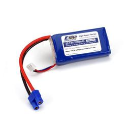 Click here to learn more about the E-flite 1250mAh 2S 7.4V 20C LiPo, 13AWG EC3.