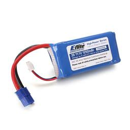 Click here to learn more about the E-flite 1250mAh 3S 11.1V 20C LiPo, 13AWG EC3.