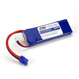 Click here to learn more about the E-flite 1500mAh 2S 7.4V 20C LiPo, 13AWG EC3.