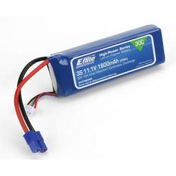 Click here to learn more about the E-flite 1800mAh 3S 11.1V 30C LiPo,13AWG EC3.