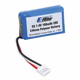 Click here to learn more about the E-flite 180mAh 2S 7.4V 20C LiPo, 26AWG.