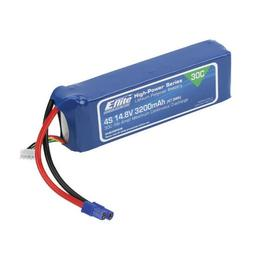 Click here to learn more about the E-flite 3200mAh 4S 14.8V 30C LiPo, 12AWG EC3.