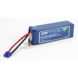 Click here to learn more about the E-flite 4000mAh 4S 14.8V 30C LiPo,12AWG EC3.