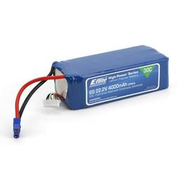 Click here to learn more about the E-flite 4000mAh 6S 22.2V 30C LiPo, 12AWG EC3.