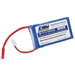 Click here to learn more about the E-flite 430mAh 3S 11.1V 20C LiPo, 20AWG JST.