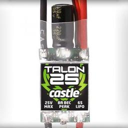 Click here to learn more about the Castle Creations Talon 25-Amp 25V ESC w/8-Amp BEC.