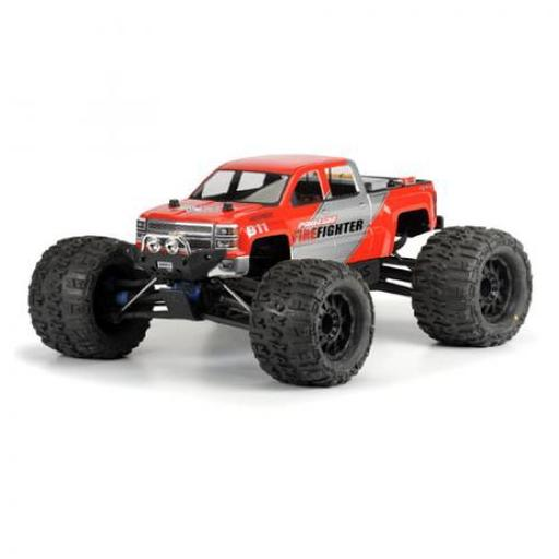 Pro-line Racing 2014 Chevy Silverado Clear Body :REVO 3.3, TMX