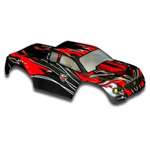 Redcat Racing 1/10 Truck Body Red and Black:Volcano Epx/Epx Pro