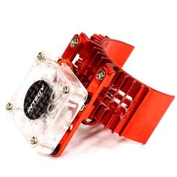 Click here to learn more about the Integy Motor Heatsink with Cooling Fan, Red:SLH, ST, RU.